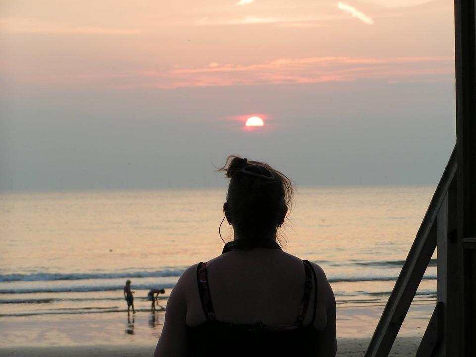 Castricum, Sea, Sun, Beach, Setting Sun, Water