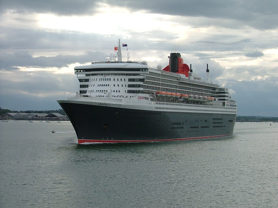 Ship, Queen Mary Ii, Cruise, Sea, Big, Cruiseship