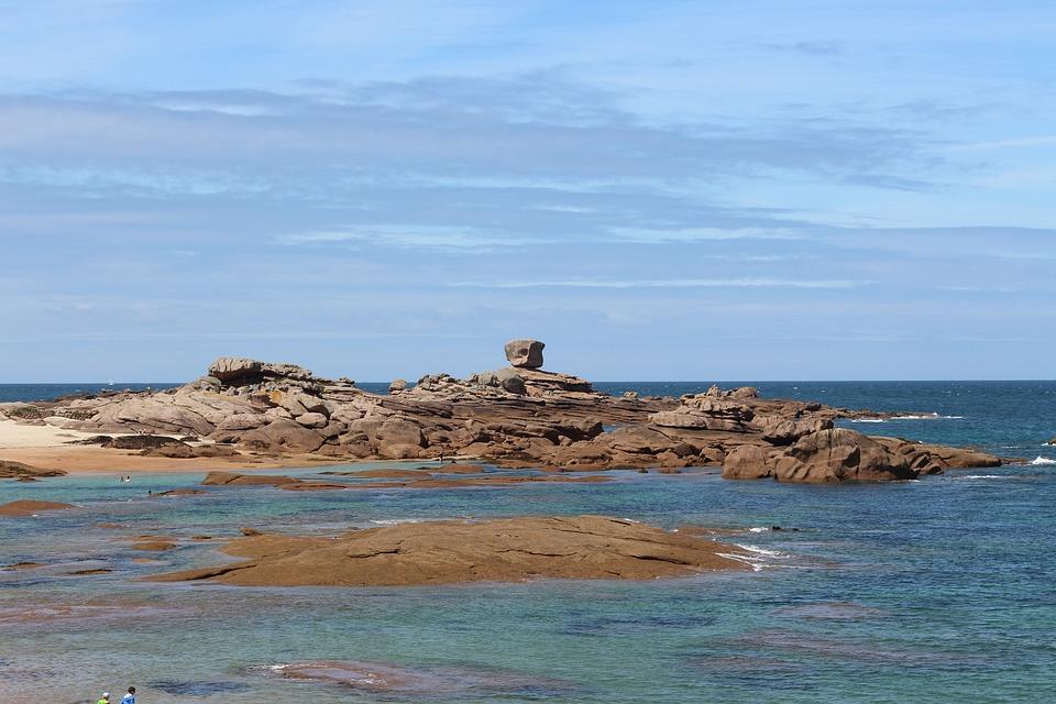 Brittany, Sea, Blue, Finistère, Side, France, Handle
