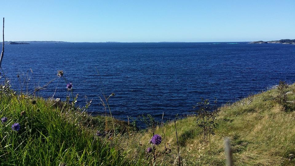 Summer, Sea, Norway, Blue Sky
