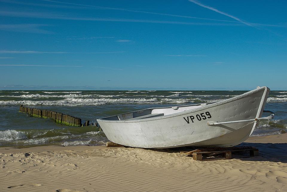 Boat, Fishing Vessel, Sea, Beach