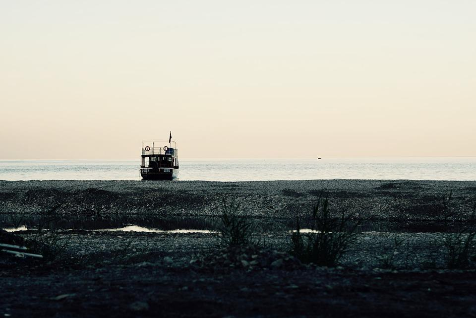 Boat, Ship, Ocean, Sea, Coast, Horizon, Sky