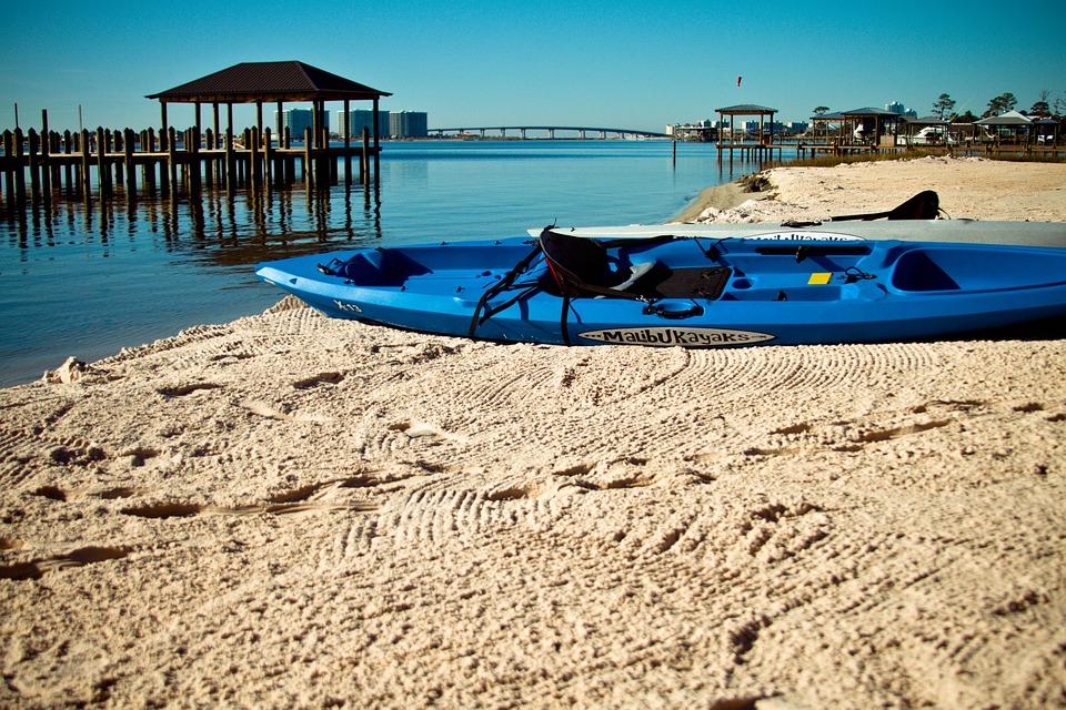 Kayak, Boat, Blue, Ocean, Sea, Paddling, Water Sports