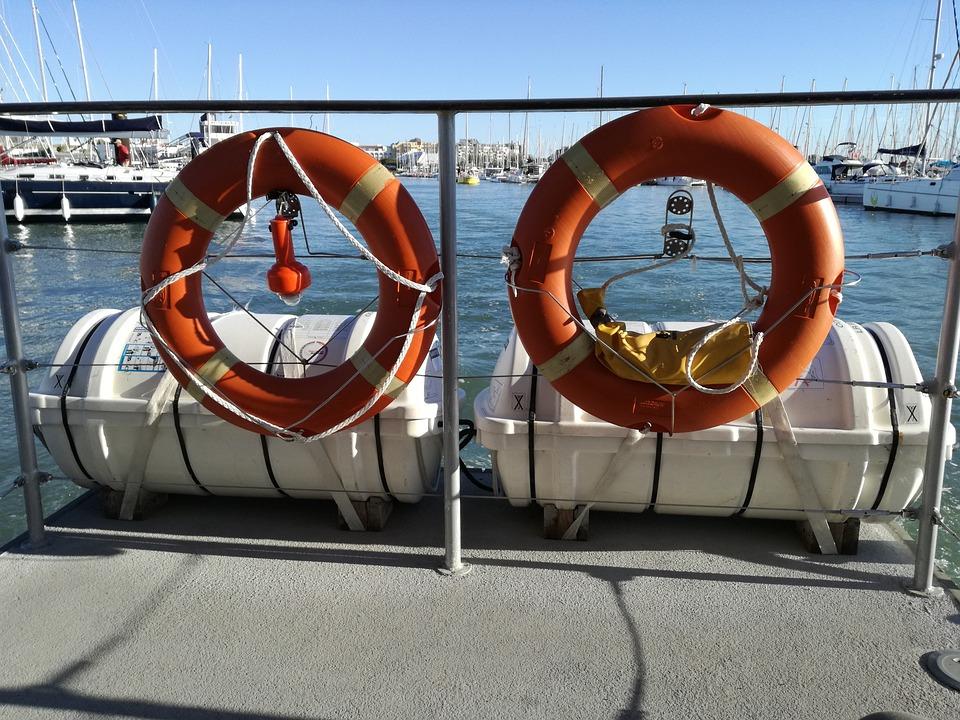 Buoy, Rail, Boat, Sea