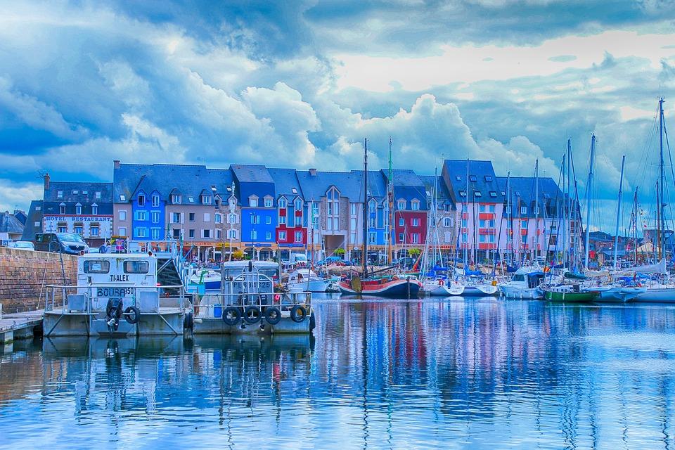 Port, Paimpol, Sea, Brittany, Boats, Blue, Marina