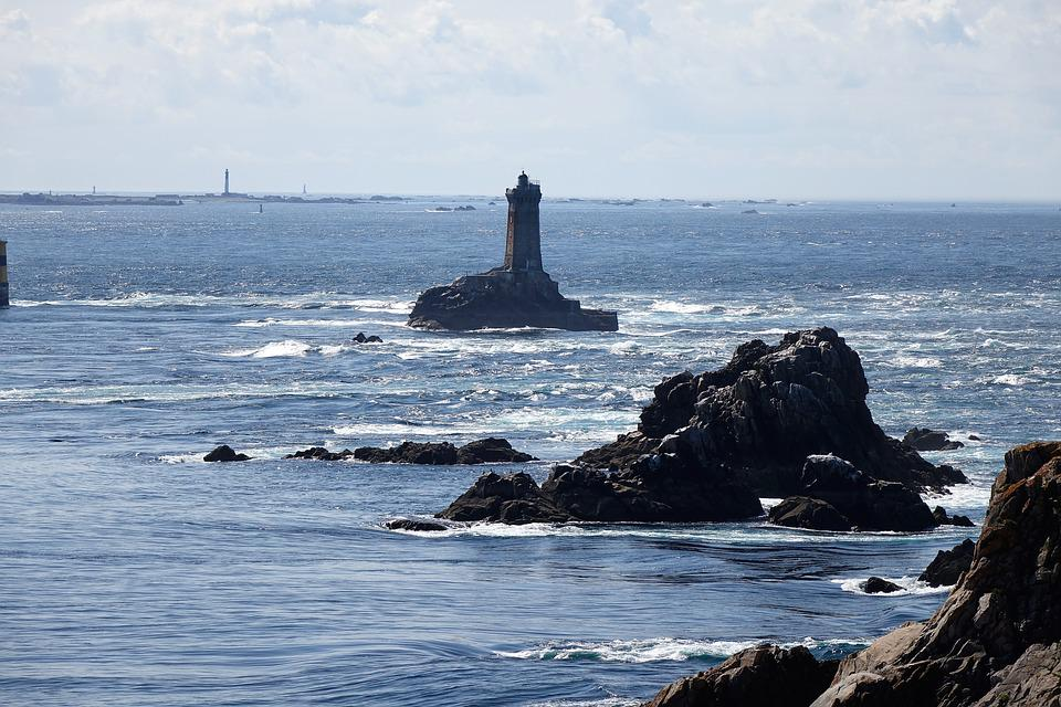 France, Brittany, Sea, Coast, Lighthouse