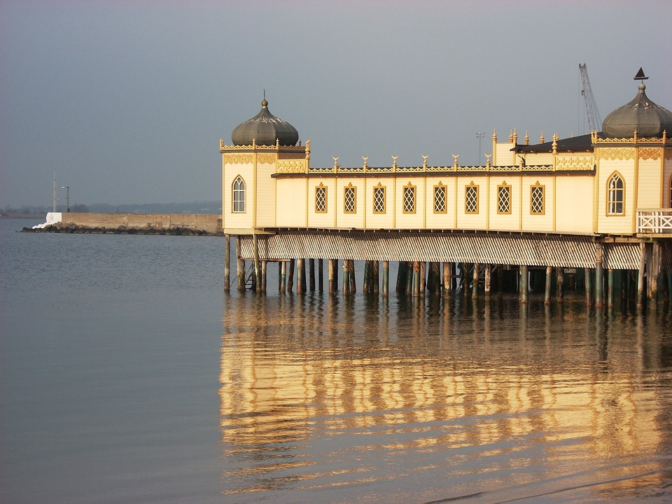 Building, Yellow, Architecture, Old, Wooden, Sea, Sky