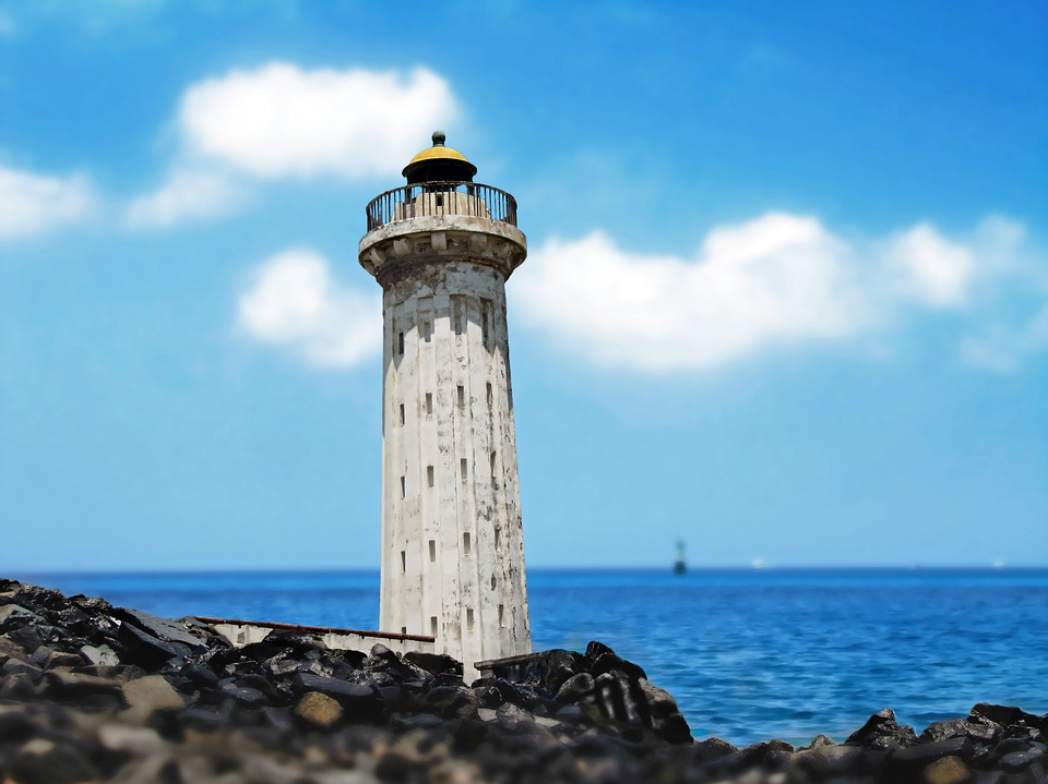 Lighthouse, Tower, Old, Building, Sea, Ocean
