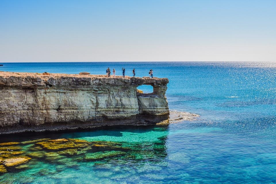 Cyprus, Cavo Greko, Sea Caves, Window, Sea, Cape, Coast