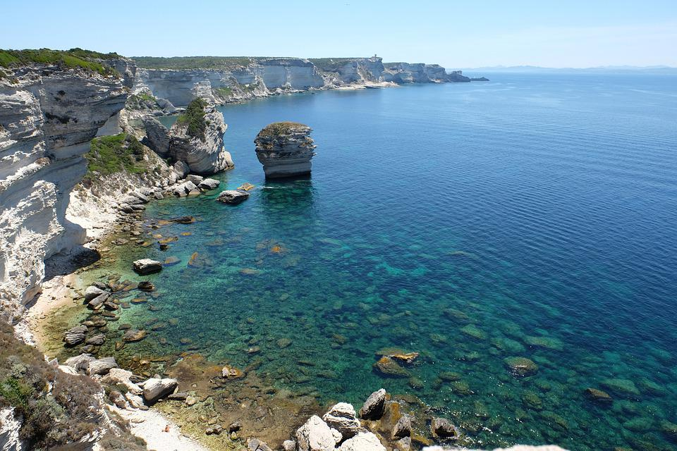 Corse, Sea, Cliffs