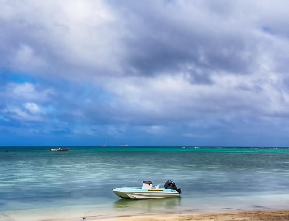 Clouds, Sea, Boat, Sky