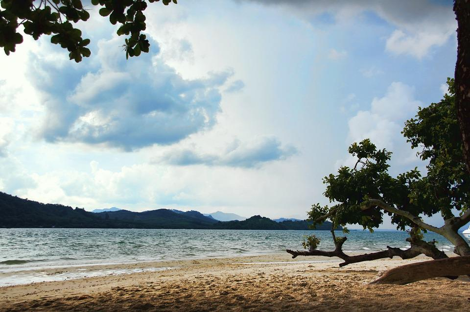 Thailand, Sea, Water, Holiday, Nature, Idyllic, Clouds