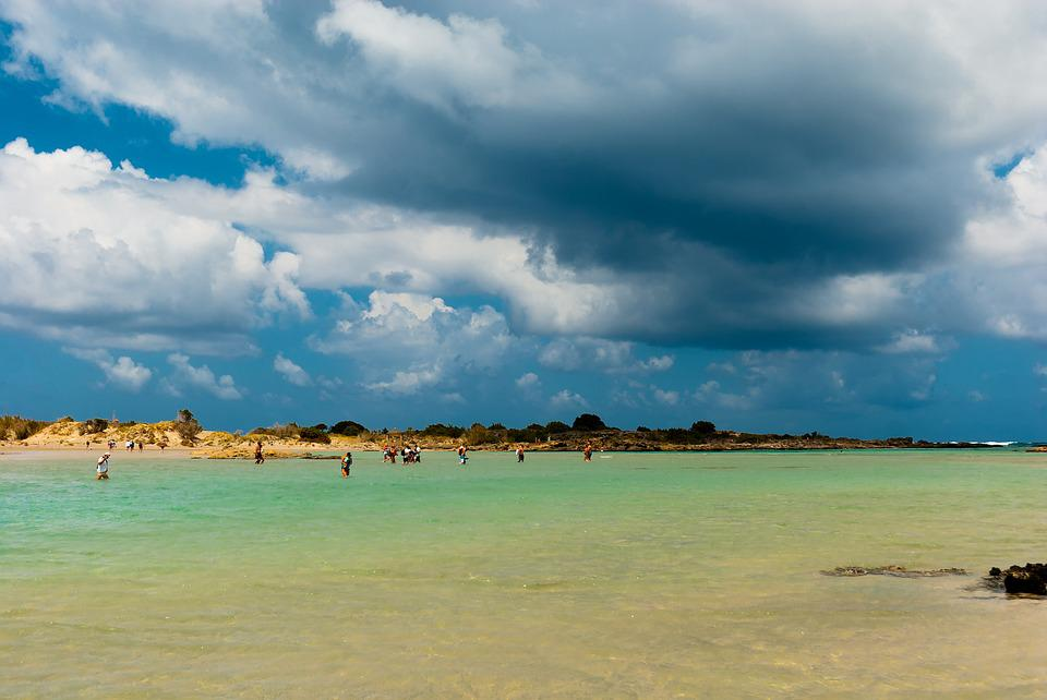 Crete, The Sun, Holidays, Elafonisi, Sea, Water, Clouds