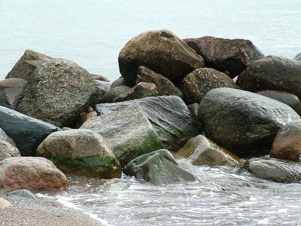 Beach, Baltic Sea, Stone, Sand, Sea, Water, Coast
