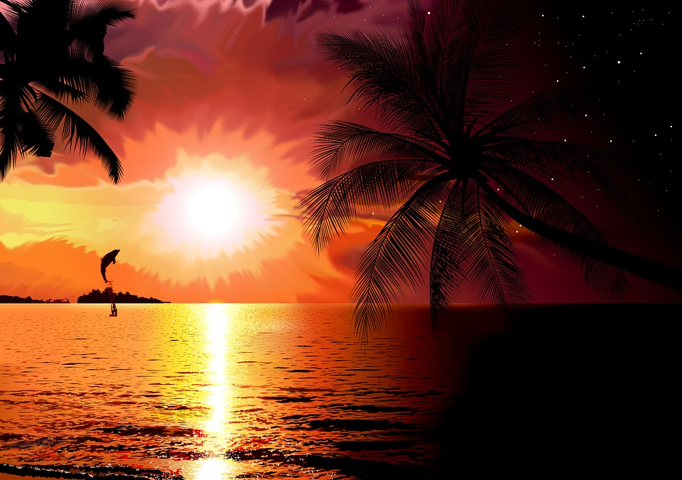 South Island, Sea, Sunset, Beach, Coast