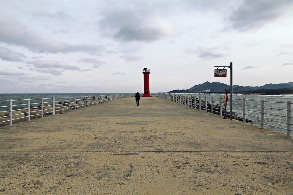 Sea, Beach, Water, Horizontal, Coast, Lighthouse
