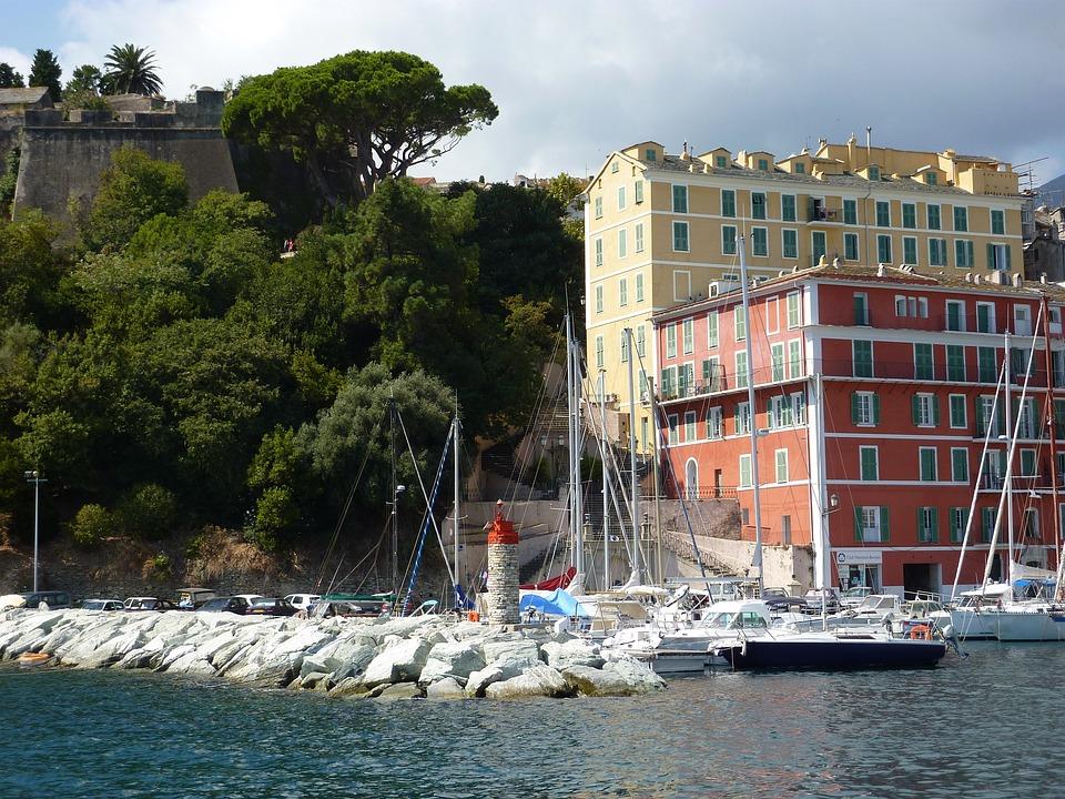 Bastia, Corsica, Village, France, Sea, Port, Port City