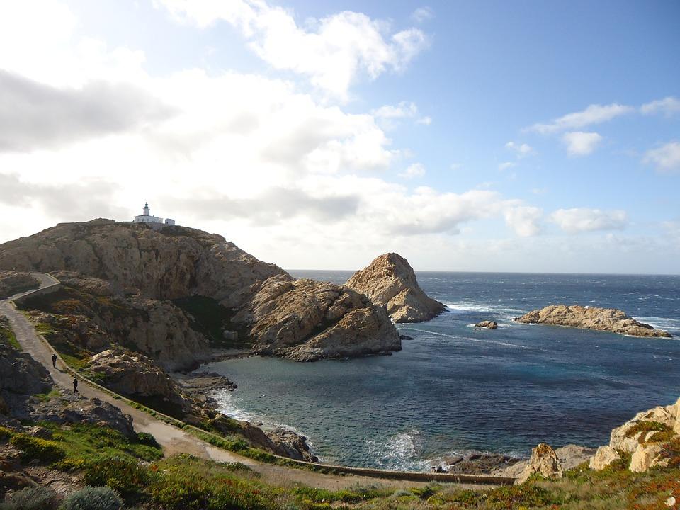 Corsican, Calvi, Creek, Sea, Fort, Nature, Path