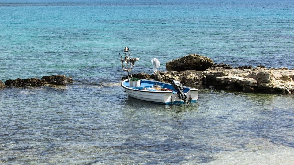 Fishing Boat, Cove, Sea, Beach, Cyprus, Makronissos