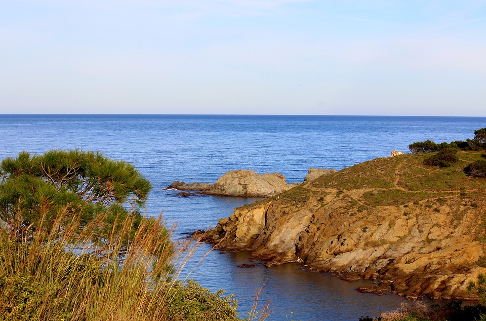 Sea, Creeks, Rock, Mediterranean, Landscape, Spain