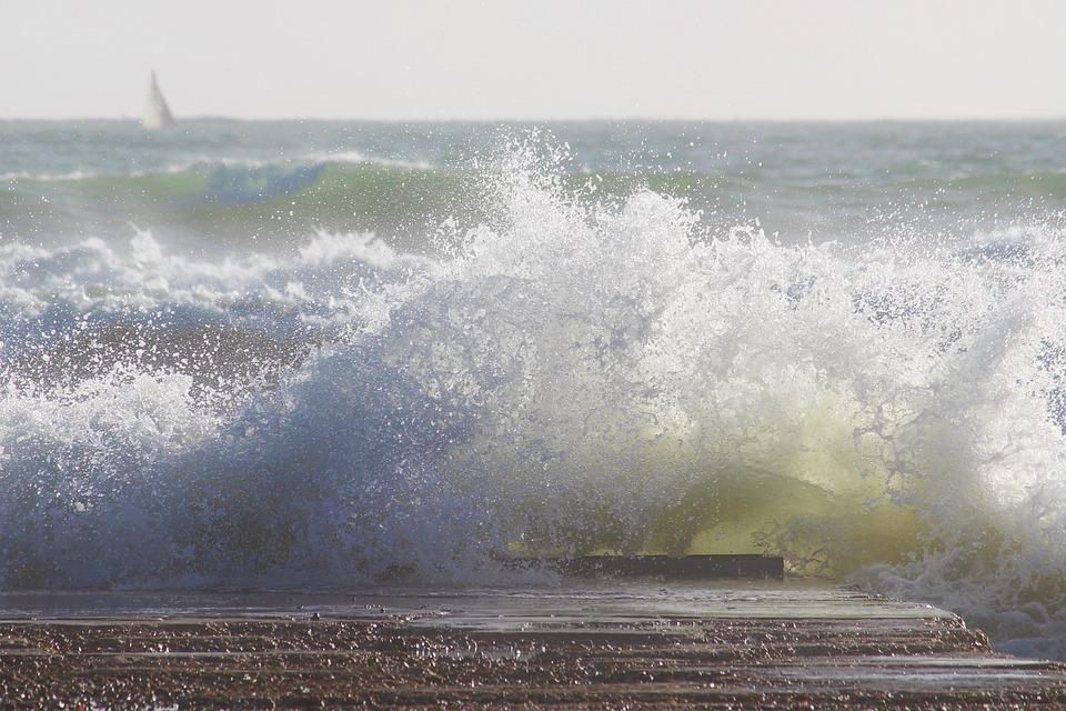 Wave, Sea, Surf, Spray, Foam, Crusher, Ocean