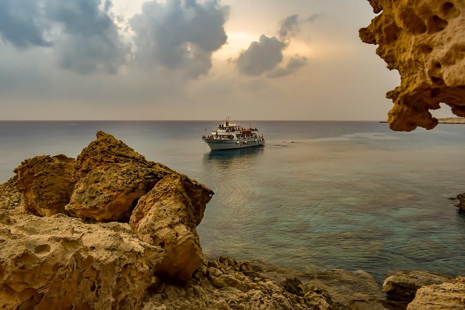 Cyprus, Cavo Greko, Landscape, Nature, Sea, Rock