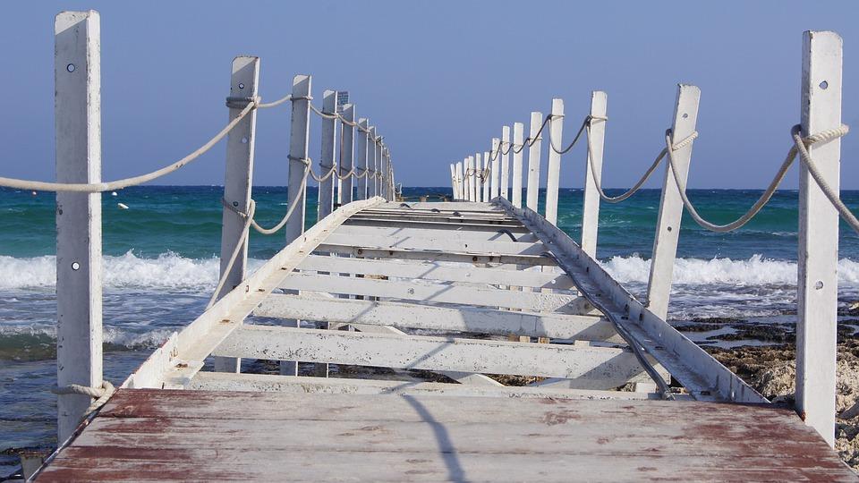 Cyprus, Port, Sea, Waves