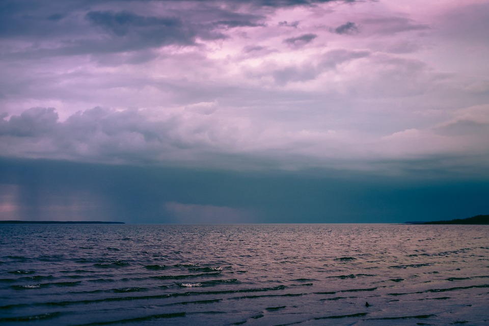 Storm, Clouds, Cloudy, Dark, Sky, Ocean, Sea, Horizon