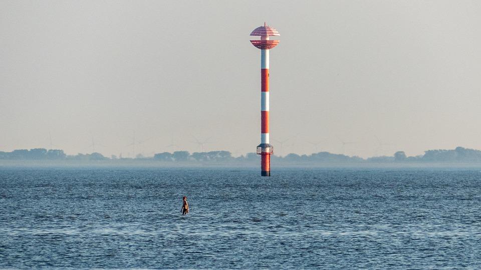 Daymark, Shipping, Navigation, Coast, Water, Sea, Tower
