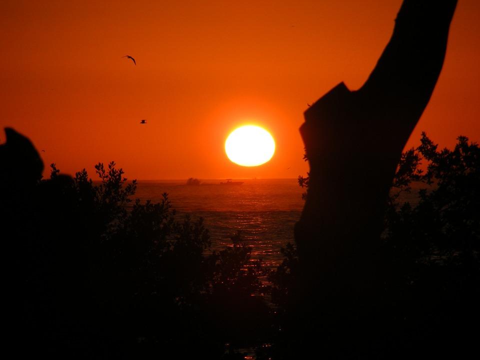 Estero Island, Florida, Sunset, Sky, Sea, Ocean, Water
