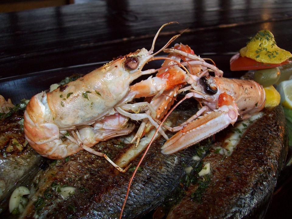 Fish Plate, Sea, Crabs