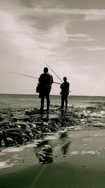 Fisherman, Sea, Beach