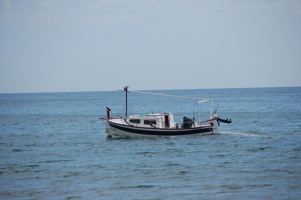 Fisherman Boat, Sea, Fishing