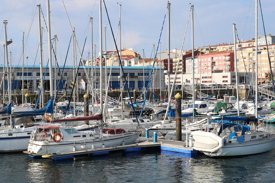 Galicia, Port, Boats, Marina, Sea, Landscape, Fishing