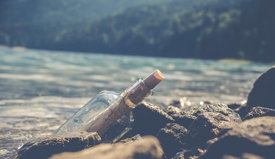 Flessenpost, Post, Glass Bottle, Sea, Communication