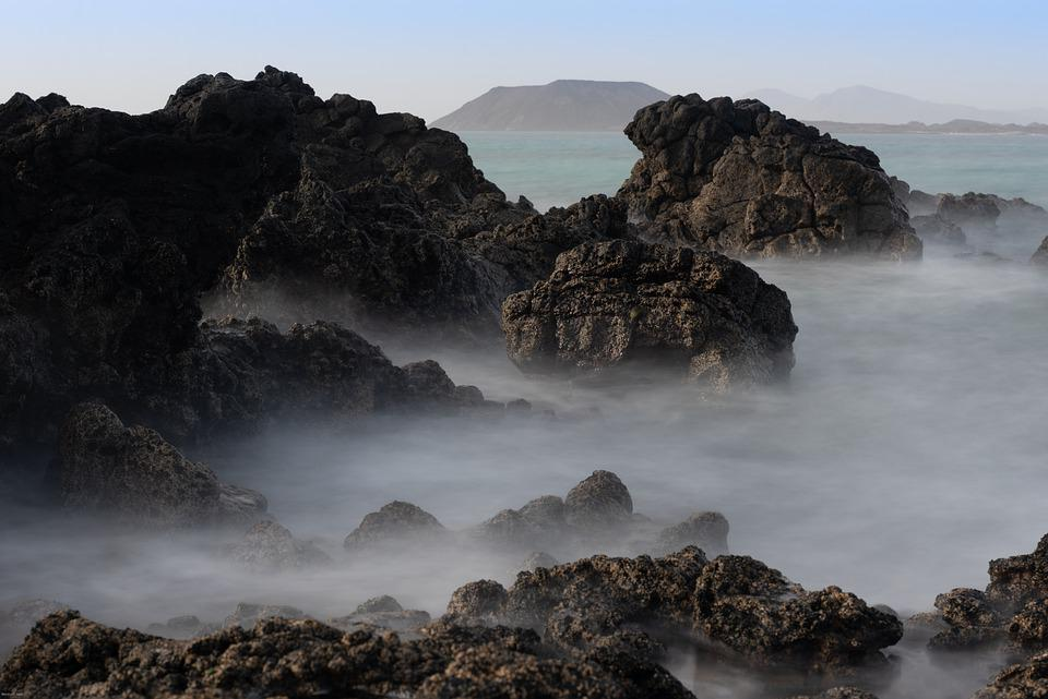 Coast, Sea, Fog, Rocky, Rocky Coast, Rocks, Mist
