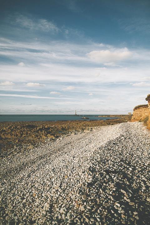Beach, Auderville, France, Sea, Andscape, Trail