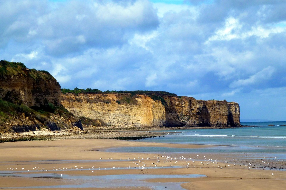 Nature, France, Normandy, Sea, Side, Cliff, History