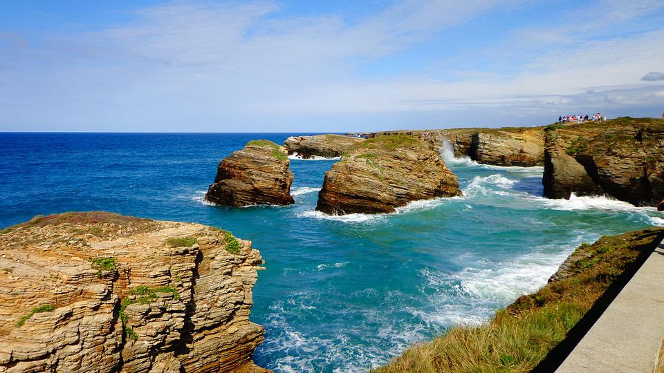 Galicia, Cathedrals Beach, Beach Of The Cathedrals, Sea