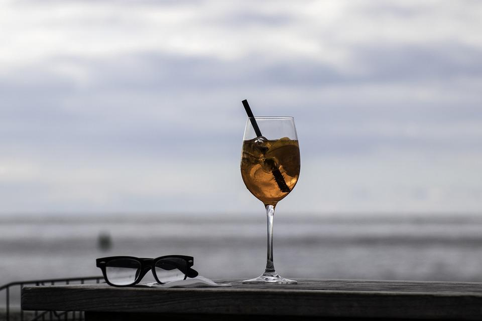 Cocktail, Sea, Glasses, Nature, Water, Leisure, Holiday