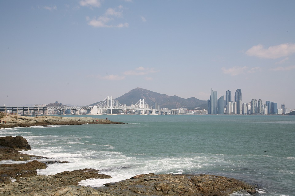 Sea, Gwangalli, Waves