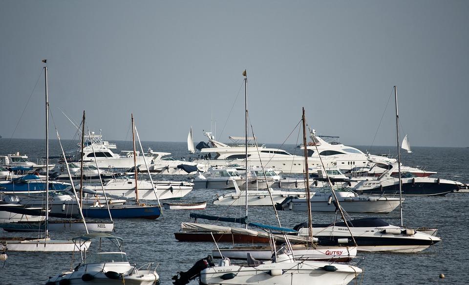 Yachts, Boats, Sea, Harbor, Port, Mumbai, India, Ocean