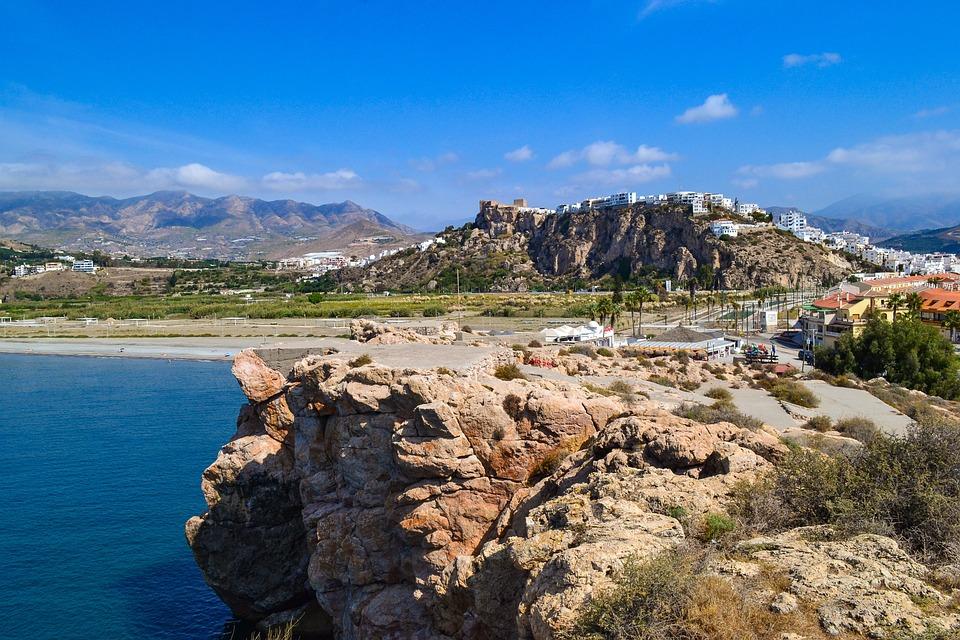 Salobrena, Spain, Travel, Europe, Hill, Town, Sea