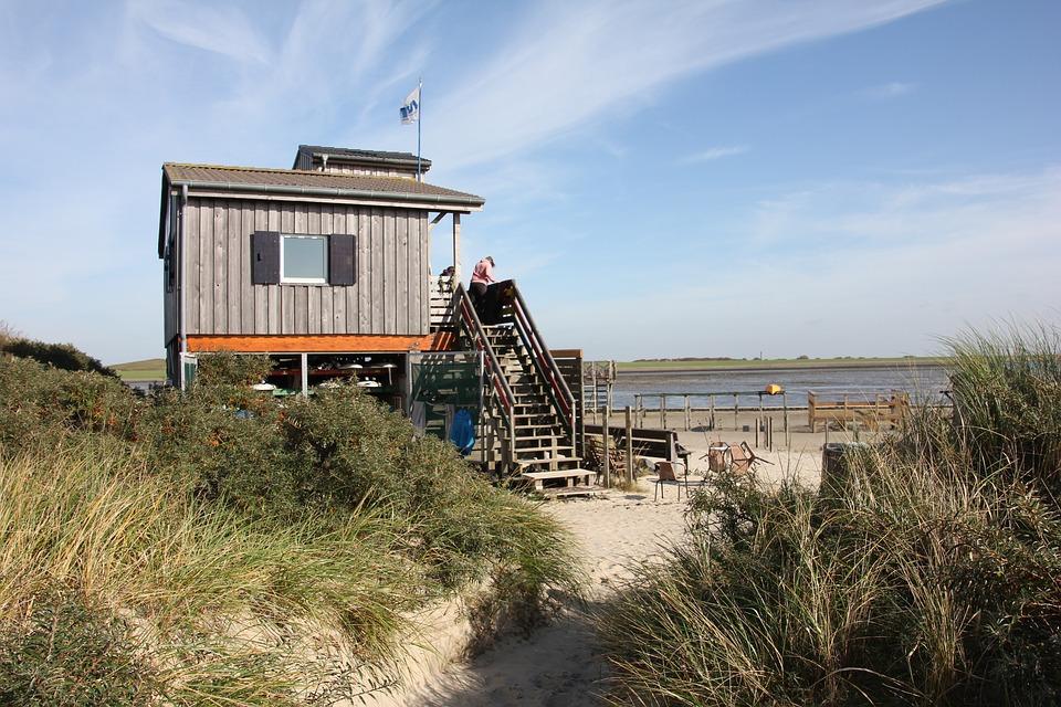 Beach, Coast, Home, Sea, Baltic Sea, Holiday, Wood