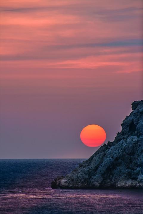 Sunset, Sky, Dusk, Sea, Evening, Warm, Holiday, Nature
