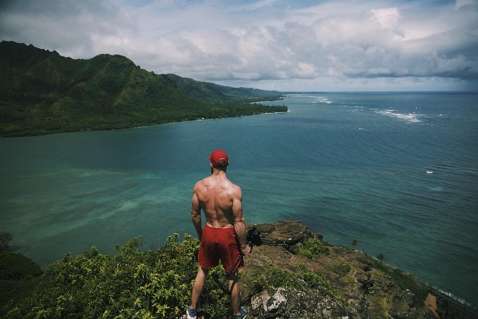 People, Man, Trees, Nature, Ocean, Sea, Water, Hunk