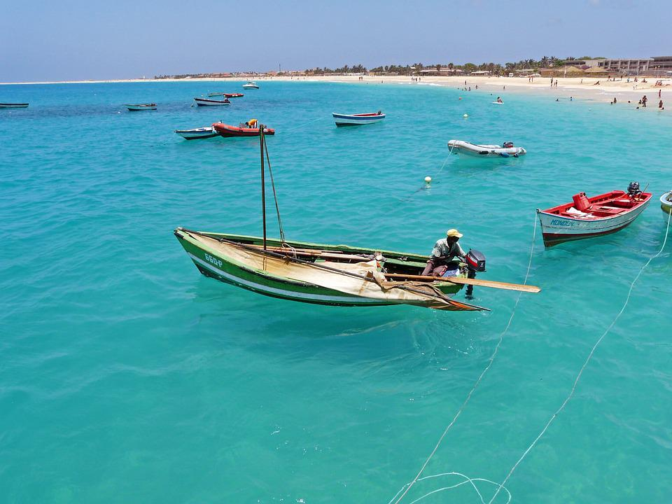 Fisherman, Sea, Atlantic, Island, Cape Verde