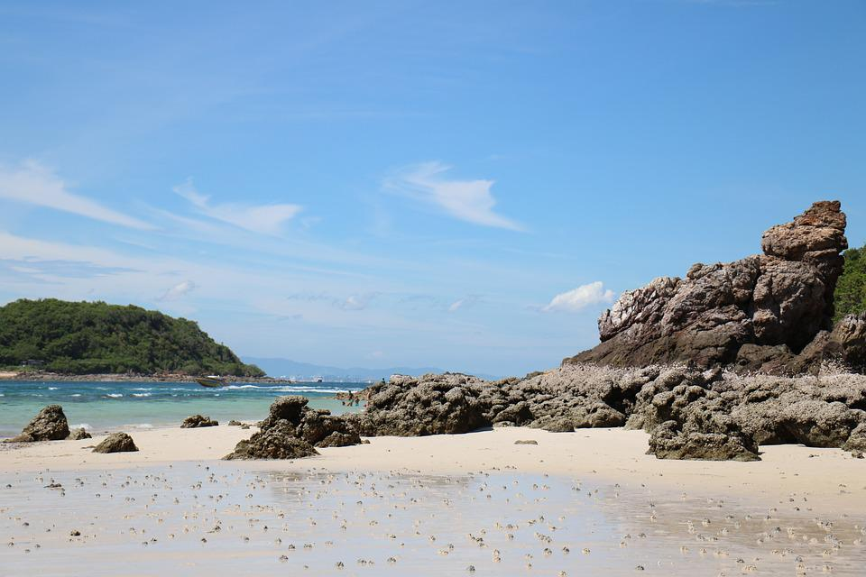 Thailand, Beach, Ocean, Sea, Shore, Rocks, Island