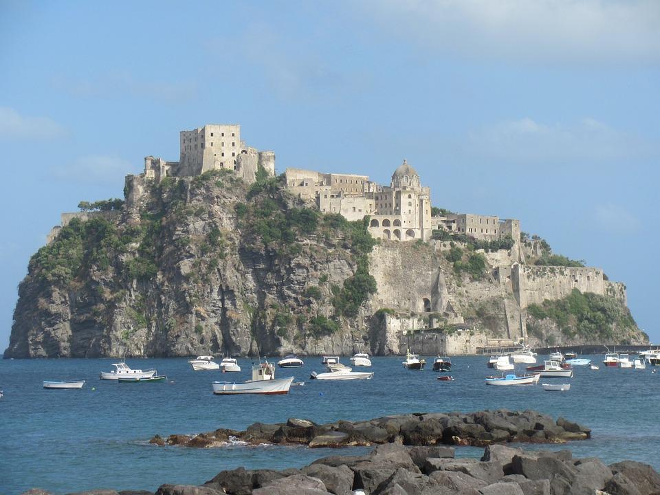 Isle, Ischia, Castle, Sea, Island, Italy