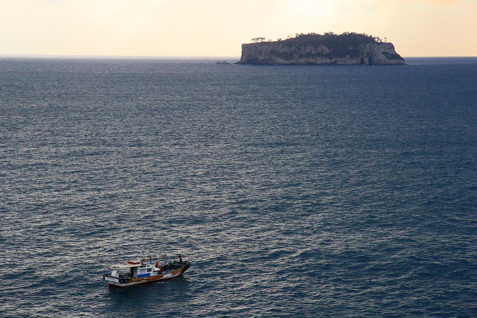 Sea, Fisherman, Jeju Island